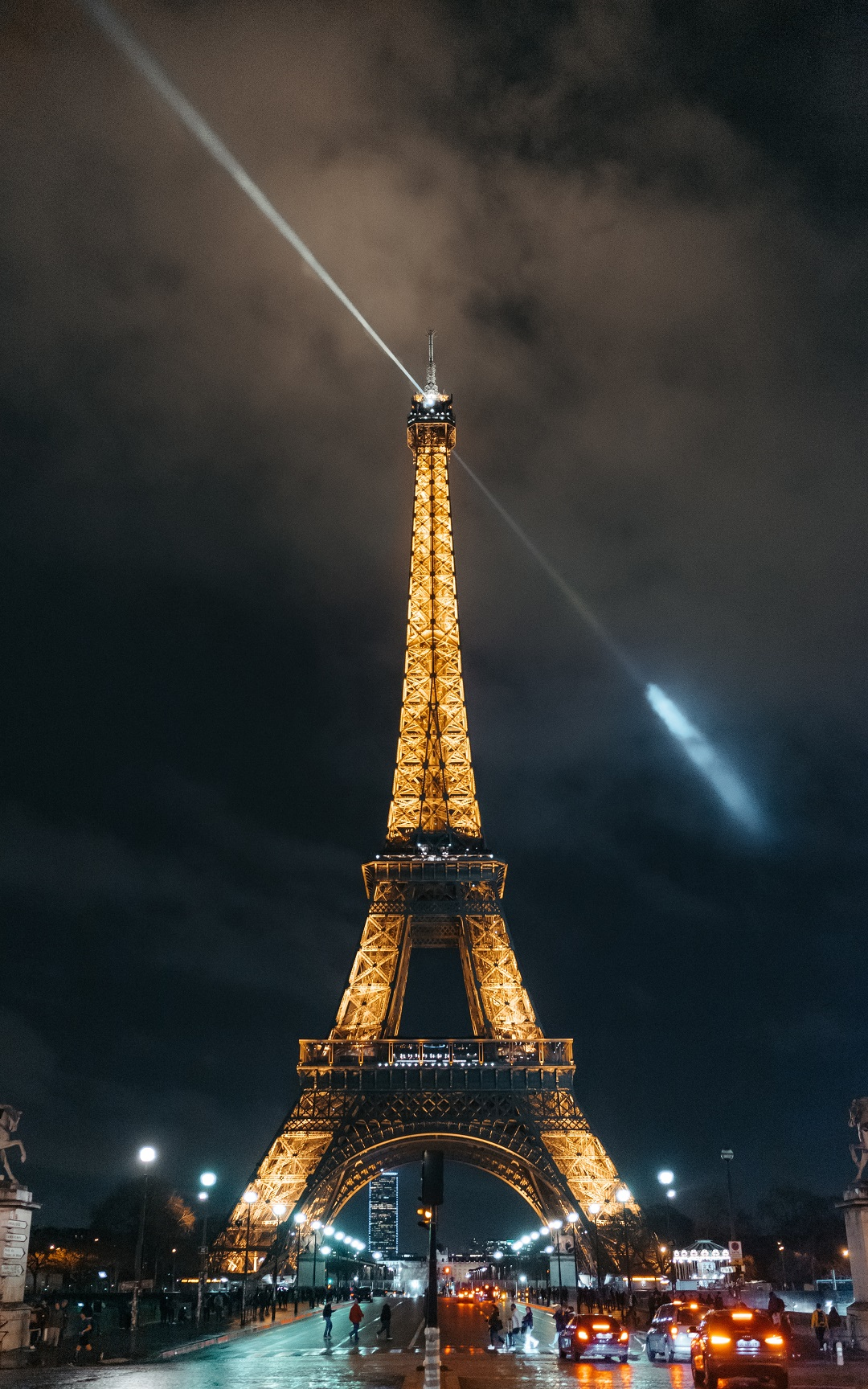 Eiffel tower during night