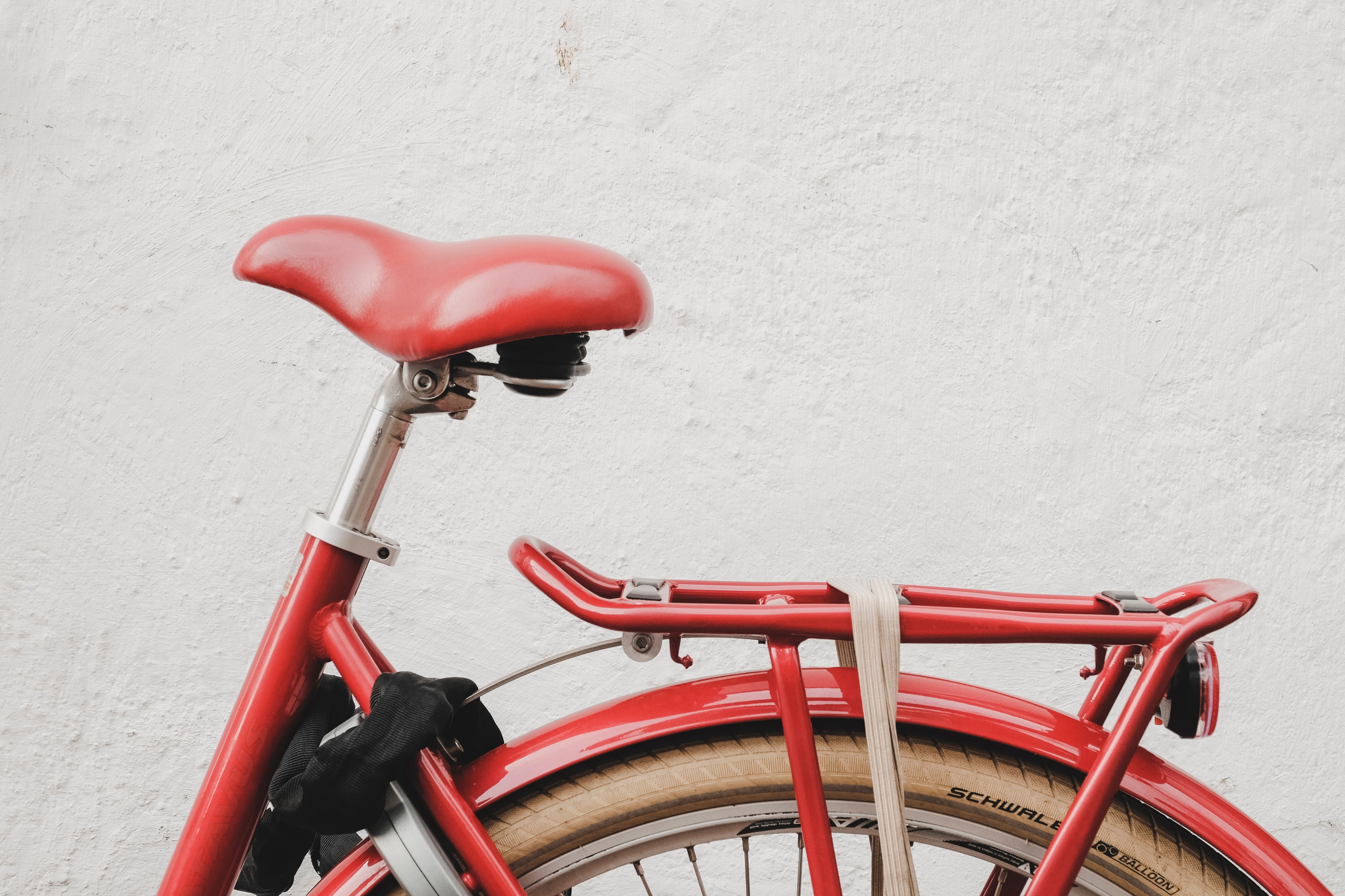 Red bycicle wheel