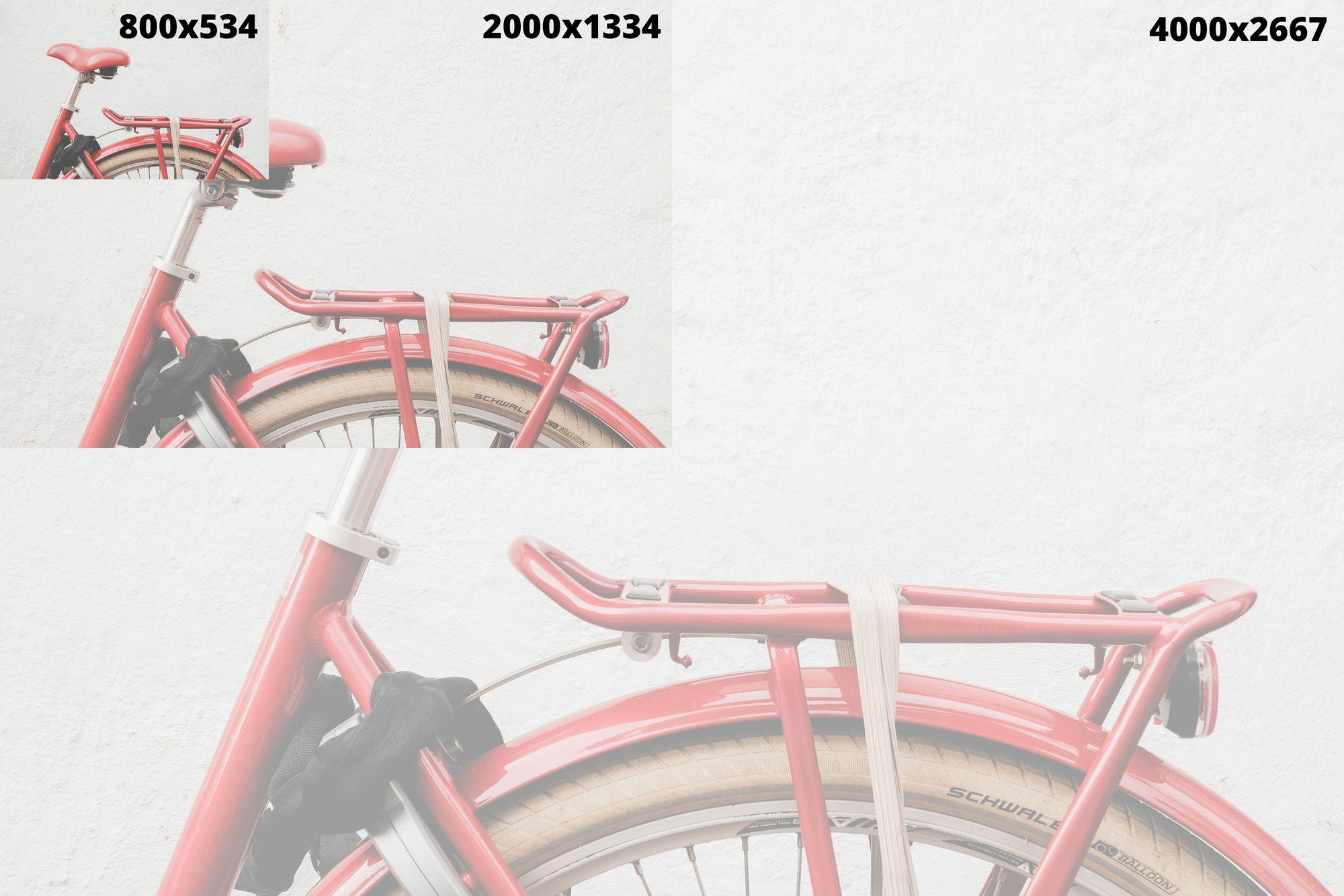 Aceeași imagine în 3 dimensiuni diferite