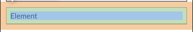 Element cu toate componentele box model vizibile