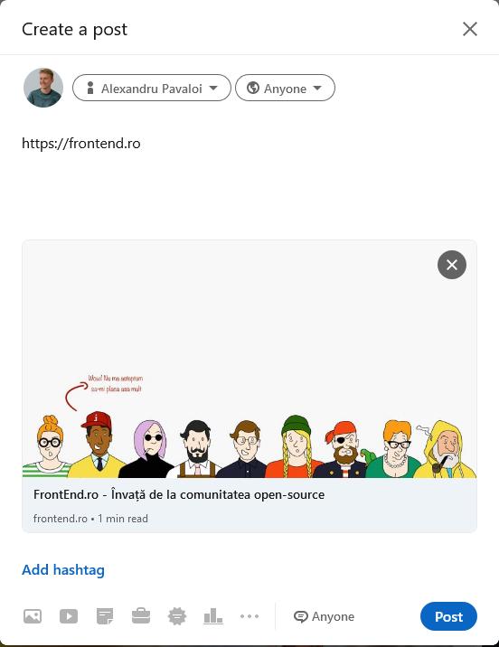 Share pe LinkedIn