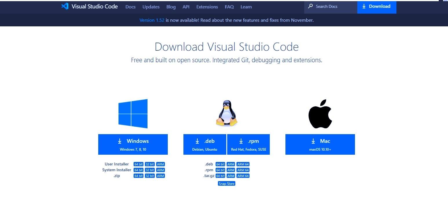 Descarcă Visual Studio Code de pe site-ul oficial.